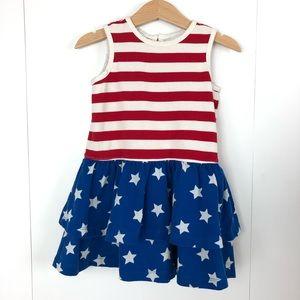 HANNA ANDERSSON Stars & Stripes Ruffle Dress 2T